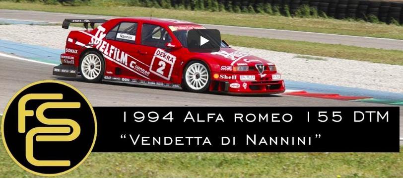 1994 ALFA ROMEO 155 You V6 DTM Nannini – ONBOARD + HISTORY