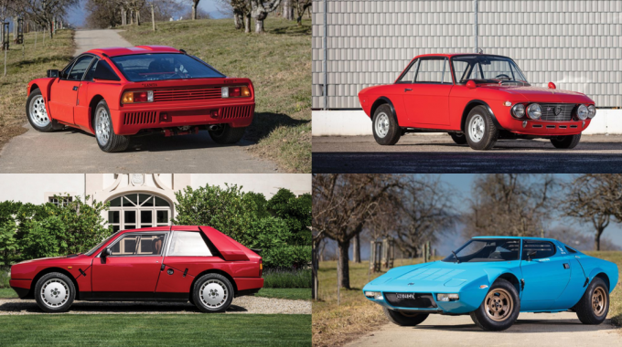 Four Of Lancia's Greatest Rally-Inspired Cars Go Up For Auction Next Month